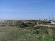 #Felixstowe  Landgaurd Common, looking towards Langgaurd Fort, Felixstowe, Suffolk, UK
