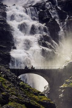 Awesome - The Trollstigen Road and Stigfossen Waterfall, Norway