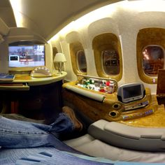 First class on Emirates Airlines. u can close the two sliding doors on the side and turn ur area into a private suite! Flying First Class, Emirates Airline, Welcome Aboard, Luxe Life, Jet Plane, Private Jet, Sliding Doors, Luxury Lifestyle, Airplanes
