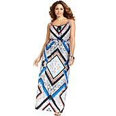 NY Collection Plus Size Sleeveless Printed Maxi Dress