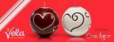 Velas de esfera para los enamorados que no son tan cuadrados. También las podemos personalizar.