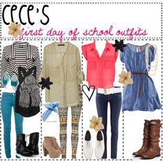 """""""first day of school outfits"""" by fabulous-tipsters ❤ liked on Polyvore"""