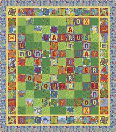 Animal Crossword Quilt Pattern PC-142 (beginner, twin)- $10.00
