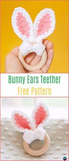 Michelle Crochet Passion: Crochet Bunny Ears Teether Free Pattern