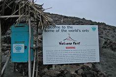 # Mount Yasur, Volcano Post