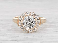 .98 Carat Victorian Engegement Ring