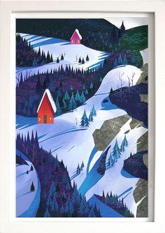 Gros caractères hiver 12 x 18 par ecala sur Etsy, $25.00 (Victoria Ying)