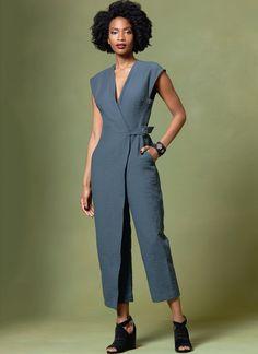 #V1645   Misses' Jumpsuit Sewing Pattern   Vogue Patterns  #voguepatterns #sewingpatterns #jumpsuitpattern