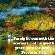 Proverbs 3:34 (KJV)