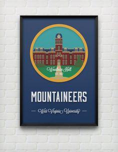 West Virginia University Woodburn Hall Print by DesignsByEJB, $18.00