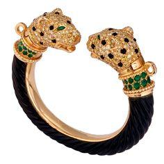 1stdibs - Leopard Emerald Diamond Bangle 1970 circa by J. Bondt explore items from 1,700 global dealers at 1stdibs.com