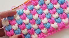 Kalpli Lif / Battaniye/ Heart Crochet Blanket