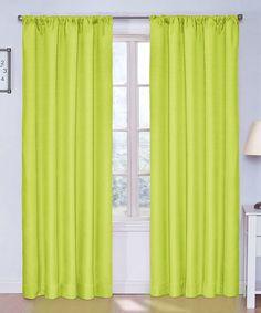 Look at this #zulilyfind! Lime Kendall Blackout Curtain Panel #zulilyfinds