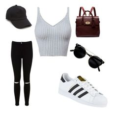 """""""Casual"""" by andrea-bedregal ❤ liked on Polyvore featuring Miss Selfridge, adidas, Mulberry and rag & bone"""
