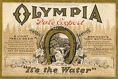 "Leopold Schmidt founded The Capital Brewing Co. at Tumwater Falls on the Deschutes River in Tumwater. In 1896, he began brewing and selling Olympia Beer. In 1902, the firm became Olympia Brewing Co. & chose the slogan ""It's the Water"".  This is a label from 1914."