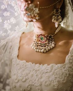 Stunning Chokers You Can Wear At Your Intimate Wedding At Home! Bridal Bangles, Bridal Jewelry, Gold Jewellery, Indian Wedding Jewelry, Indian Jewelry, Home Wedding, Wedding Sets, Jewelry For Her, Jewelry Sets
