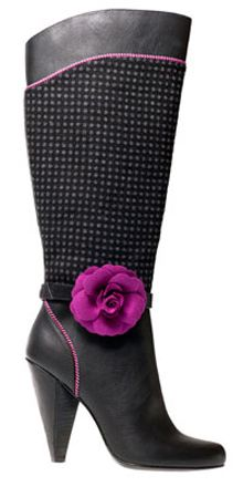 555d6c0acba Ruby Shoo Shoes - The Bergman boot with a clip on flower and lots of  interesting textures.