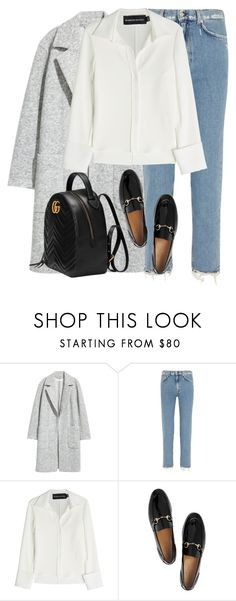 """Untitled #3152"" by elenaday ❤ liked on Polyvore featuring H&M, Acne Studios, Brandon Maxwell and Gucci"