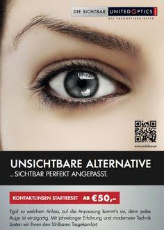 Perfekte Kontaklinsen-Anpassung! SichtBar United Optics Plakat. Starter Set, The Unit, Contact Lens, Poster