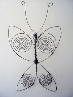 BOHEMIO OBJETOS: Mariposas Alambre