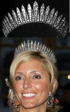 Habsburg Fringe Tiara, worn by Crown Princess Marie Chantal of Greece
