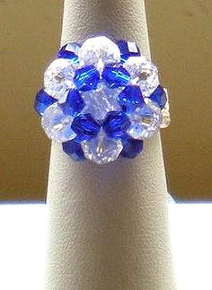 Beaded Luscious Hues Ring Pattern by Lynn