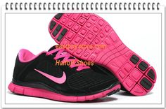 Free Shipping to Buy $68 Nike Free 4.0 V3 Suede Womens Black Pink #nike #shoes nike shoes