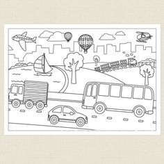 32 Best Transportation Coloring Pages images | Coloring ...