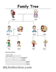 family tree worksheet - Free ESL printable worksheets made by teachers