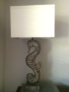 My Island Home - Moulded Seahorse Lamp Base   Beach House ...