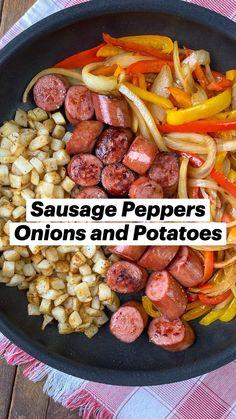 Sausage Recipes, Pork Recipes, Cooking Recipes, Healthy Recipes, Weeknight Meals, Quick Meals, Breakfast Recipes, Dinner Recipes, Breakfast