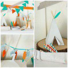 Hipster Baby Boy 1st Birthday Party with Such Cute Ideas via Kara's Party Ideas Kara Allen KarasPartyIdeas.com #nativeamericanparty #indianp...