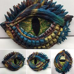 Here another #DragonEyePendant I sculpted using #premoclay. I also added some resin to the glass eye to get rid of any scratches and to make to eye look glossy and watery. I might put a gloss finish so the colors will pop a bit more but I love the colors. What do you think?  #dragon #fortheloveofdragons #handmade #oneofakind #sculpture #glasseye