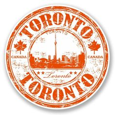 2 X Toronto Canada Vinyl Sticker Travel Luggage Tag Flag Map Laptop Postage Stamp Design, Travel Stamp, Tumblr Stickers, Aesthetic Stickers, Tampons, Travel Scrapbook, Grafik Design, Laptop Stickers, Ottawa