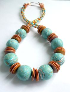 Hey, I found this really awesome Etsy listing at https://www.etsy.com/listing/155556766/sahara-sky-necklace-chunky-blue-sand