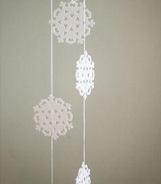 Fayette Woman celebrates Paper Snow Day on Dec 27th.  DIY Paper Snowflake Garland