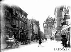 Pánska ulica 1900 Old Street, Bratislava, Louvre, Street View, Building, Squares, Travel, Times, Buildings