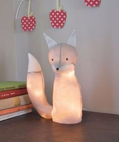 String Light DIY ideas for Cool Home Decor - Electrified Fox Lamp for Teens Room, Dorm, Apartment or Home