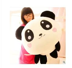 (47.17$)  Watch now - http://ai309.worlditems.win/all/product.php?id=1772660401 - Stuffed animal smiley panda Laying Panda about 31 inch plush toy 80 cm doll GIFT wp4738
