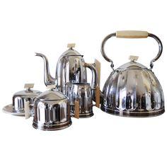 Complete Belgian Art Deco Tea/Coffee Breakfast Set by Demeyere | 1stdibs.com