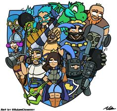 Featuring all the characters exclusively from Clash Royale (not Clash of Clans).