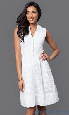 White Collared Short Dress SG-ADAJL1AMP