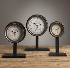 French Amperes Meter Clock