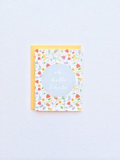 Oh Hello There card. Floral blank thank you cards. Spring stationery cards. Floral hello there card on Etsy, $4.50