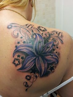 Cover up lily tattoo designs | Lily, swirls and stars by ~Ashtonbkeje on deviantART