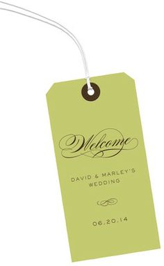 Green Vertical Hanging Gift Tags