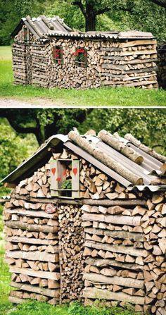 come accatastare la legna diventa arte