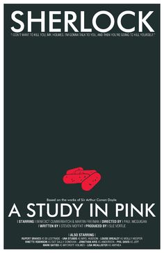 11x17 Sherlock Art Print Collection A Study in Pink by TheGeekerie, $52.00 @Cristina Hawkes-Cornwall