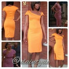 """I call this the """"Joan Dress"""". Inspired by @Tracee Ellis Ross  character on Girlfriends. Wanted to go ahead and show it to you guys, it'll be a minute before I style this one. Since I wear most of my clothing to church, I brought up the cut-out in the dress a little higher than hers is. And just because I wanted to, did the sleeves a little different."""
