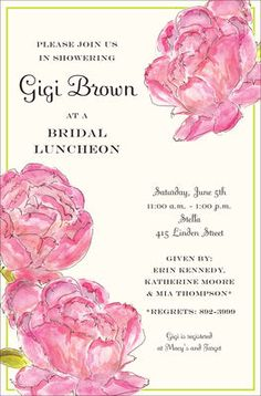 Peonies Invitations